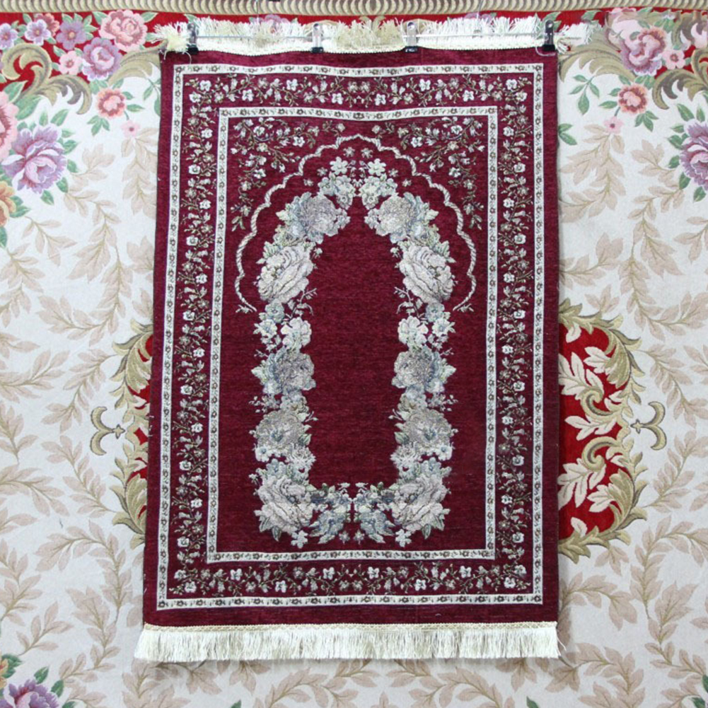 Islamic Pilgrimage Blanket Muslim Prayer Mat Lightweight Thin Carpet Islam Eid Ramadan Gift Jujube_70cm*110cm