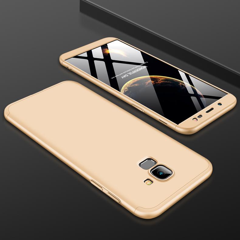 For Samsung J6 2018/on 6 Ultra Slim 360 Degree Non-slip Shockproof Full Protective Case Gold