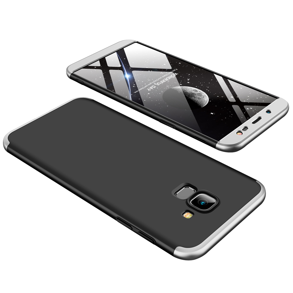 For Samsung J6 2018/on 6 Ultra Slim 360 Degree Non-slip Shockproof Full Protective Case silver black silver