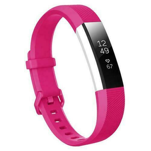 For Fitbit Alta/Alta HR Band Secure Strap Wristband Buckle Bracelet  rose Red_S