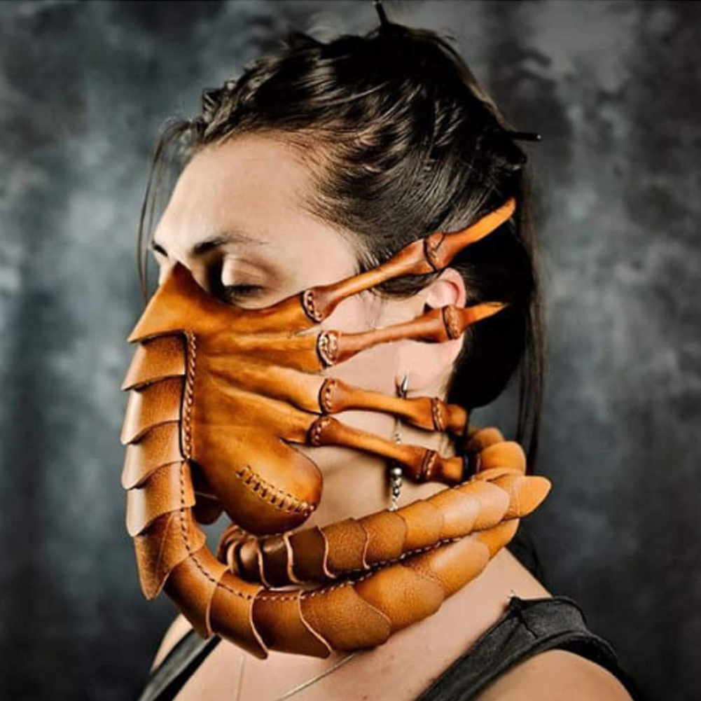 Halloween Horror Scorpion Mask Latex Cosplay Prop for Party Headgear #1