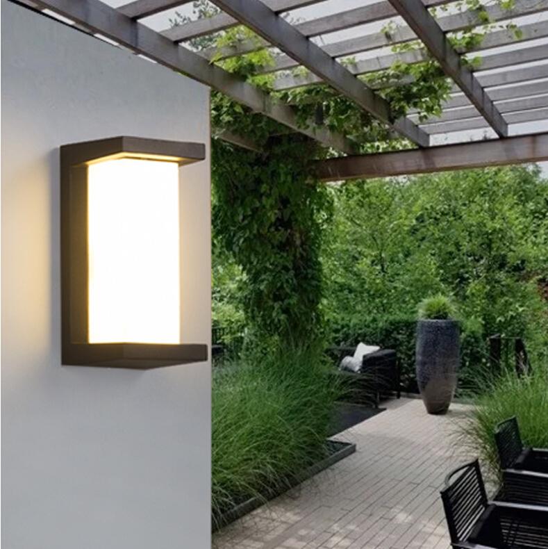 IP65 Waterproof LED Wall Light Night Lamp Yard Street Lawn Light Decoration Warm White