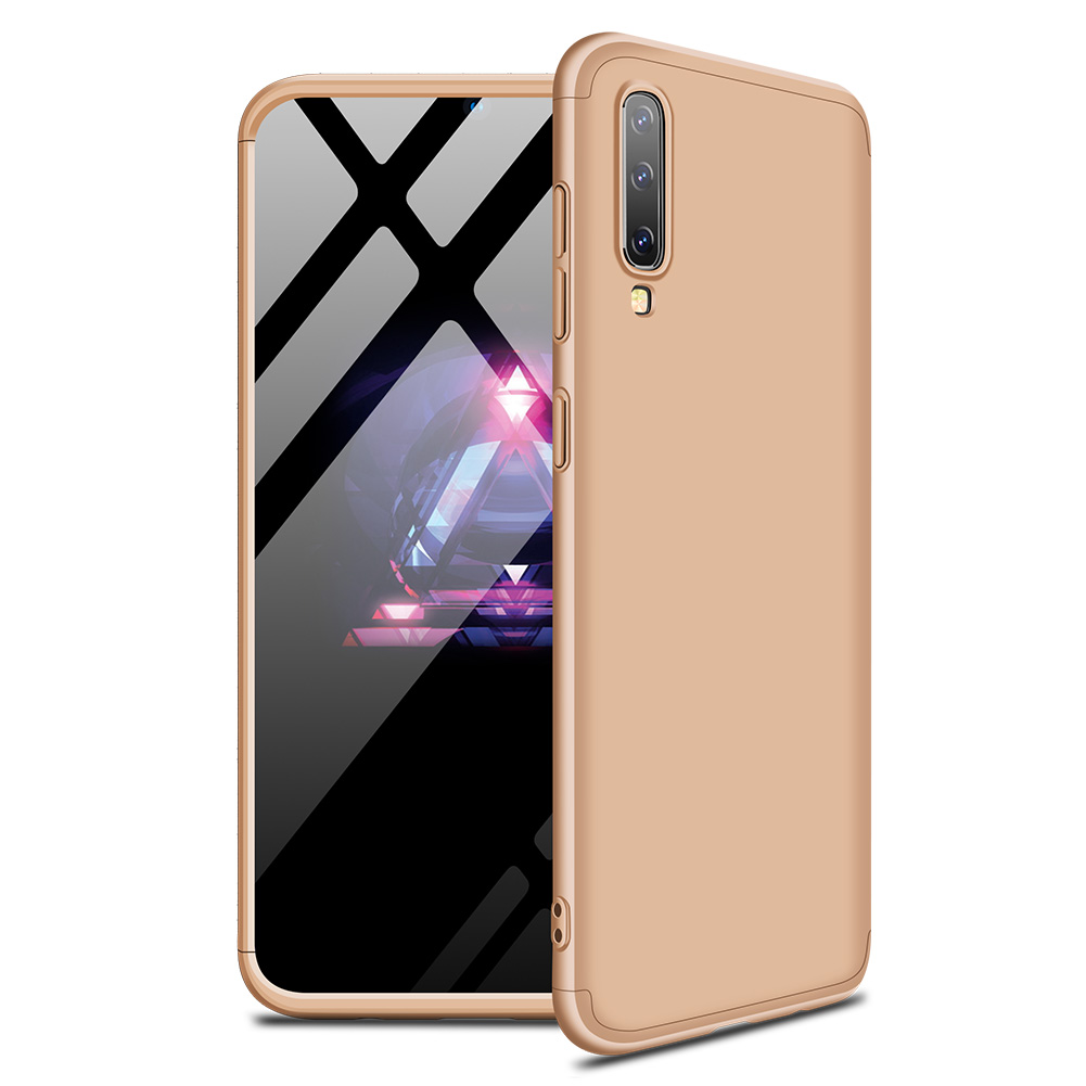 For Samsung A50 Ultra Slim PC Back Cover Non-slip Shockproof 360 Degree Full Protective Case gold