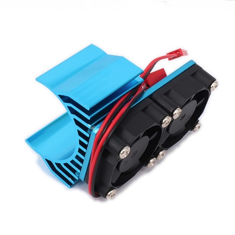 30mm Double Motor Cooling Fan Heat Sink 21000RPM for 1/10 HSP RC Car Modified 540 550 3650 3660 3670 3674 Series blue