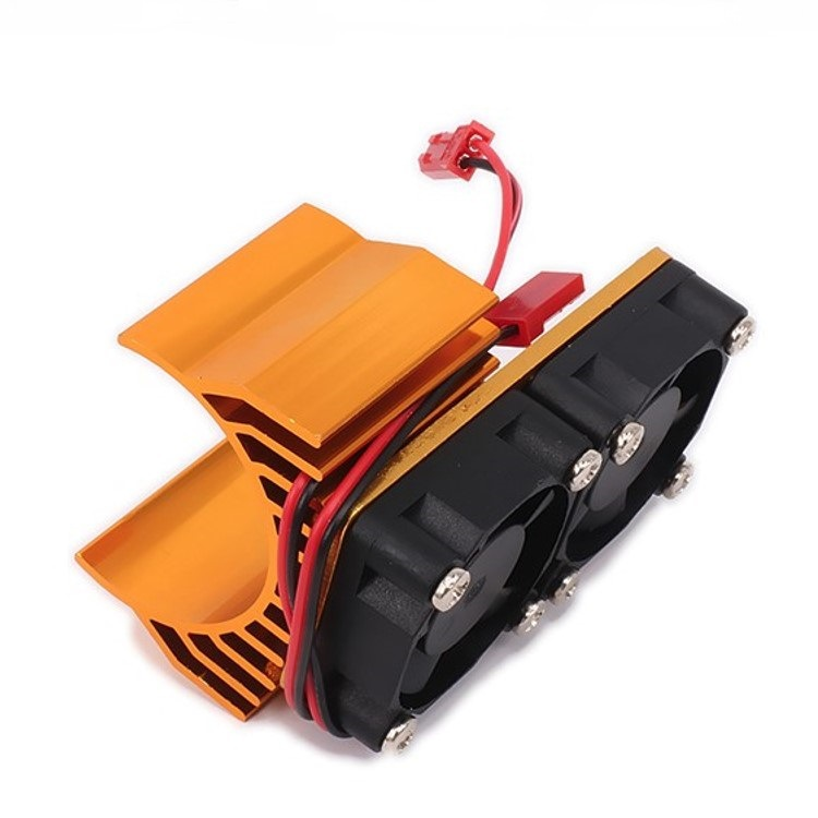 30mm Double Motor Cooling Fan Heat Sink 21000RPM for 1/10 HSP RC Car Modified 540 550 3650 3660 3670 3674 Series Gold