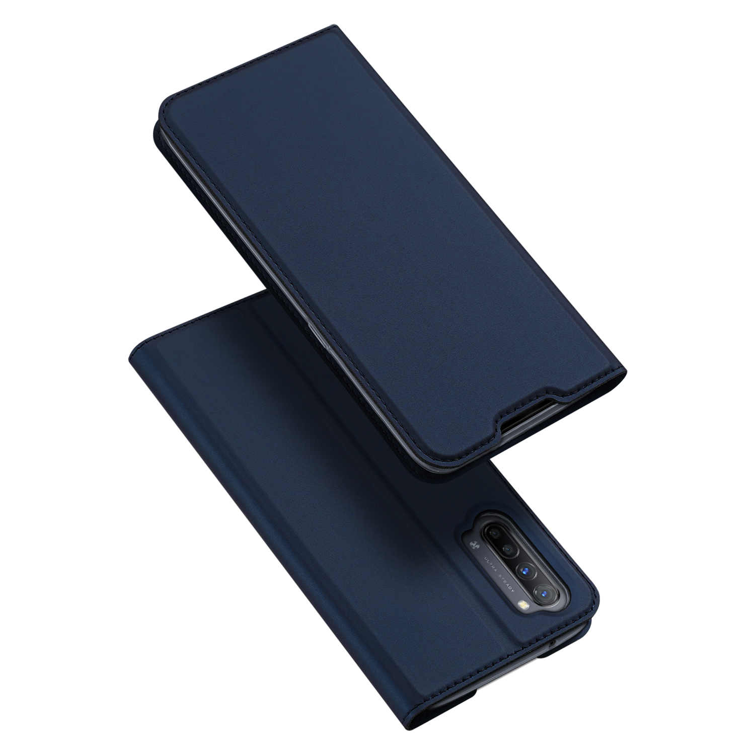 For OPPO Reno 3/3 Pro/ 3 pro 4G Case Magnetic Closure Card Slots Cellphone Cover Screen Protector Stand Available Leather Shell blue