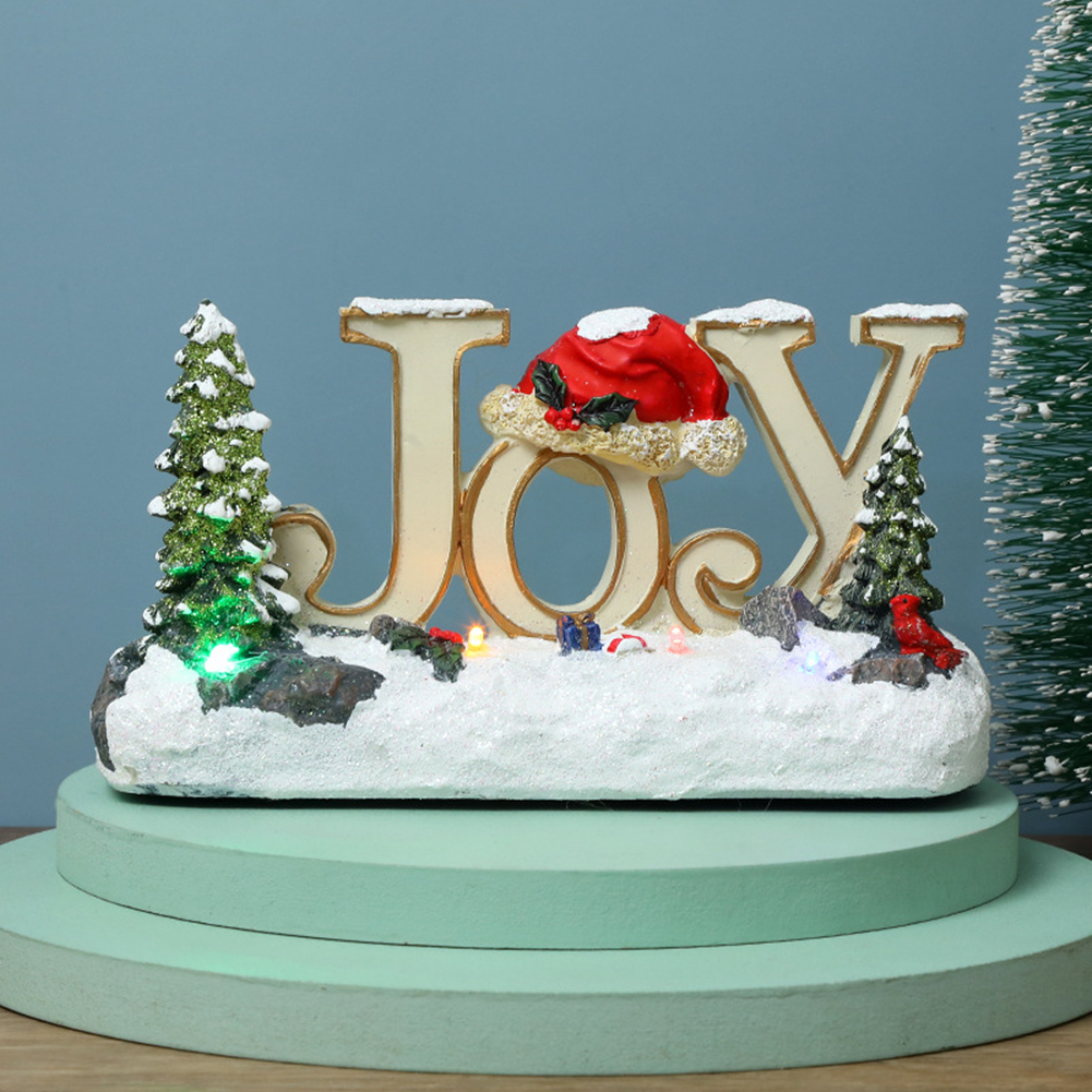 Christmas  Ornaments Luminous Letter Ornaments Led Colorful Lights Resin Crafts Luminous letter A