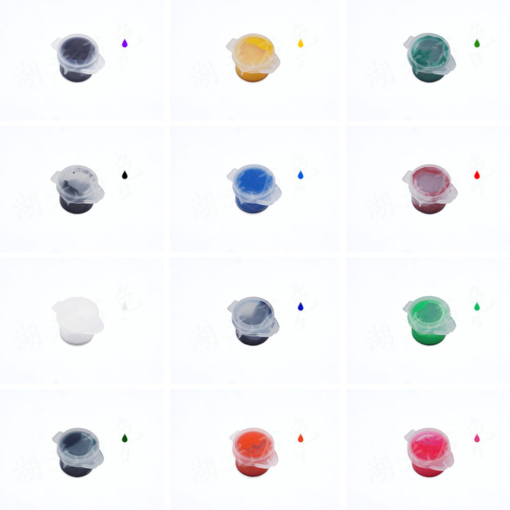 DIY Handmade Material Bag Crystal Epoxy Resin Color Paste Pigment 12 color suit