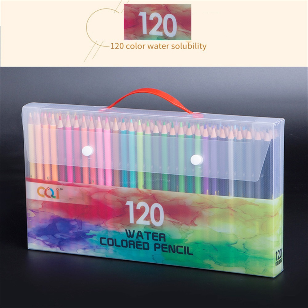 1 Set 120  Color  Wooden  Colored  Pencils Hand-painted Boxed Oily Colored Pencils Color Art Painting