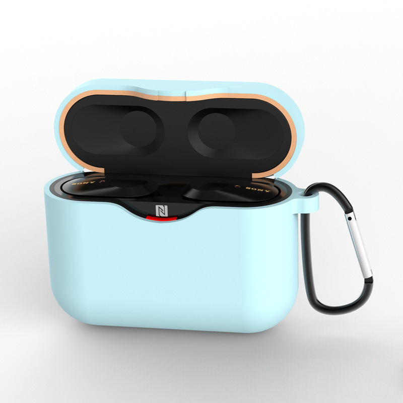 1.5mm Thickness Silicone Case Earphone Protective Cover Headset Carer for Sony WF-1000XM3  sky blue