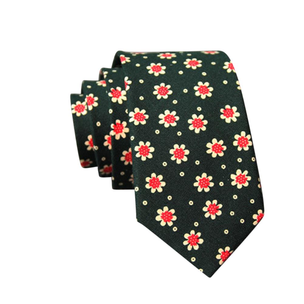 Men's Wedding Tie Floral Cotton Necktie Birthday Gifts for Man Wedding Party Business Cotton printing -004