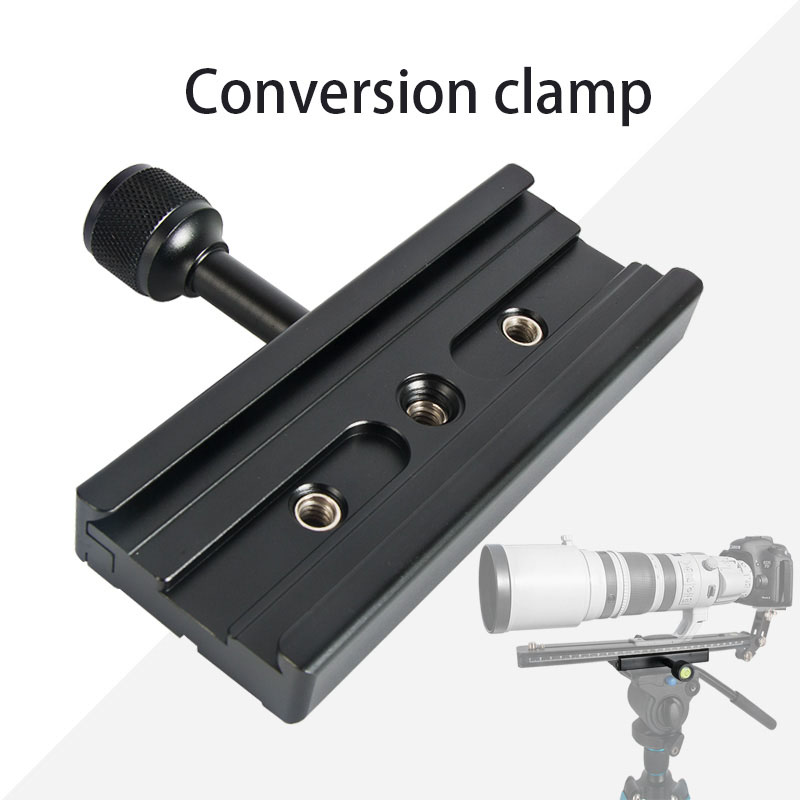 QR-120 Clamp Adapter for Quick Release Plate 1/4in 3/8in  black