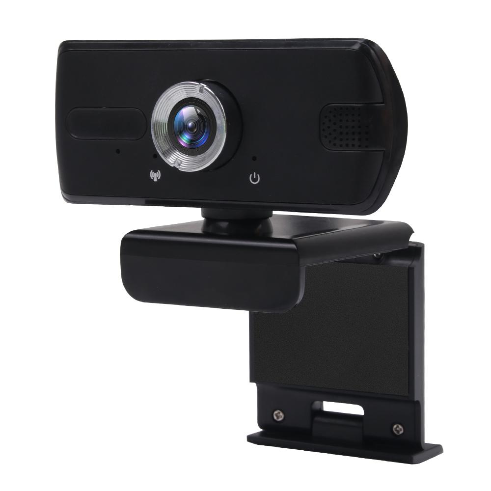 Full HD 1080P Webcam USB Mini Computer Camera Built-in Microphone Webcam for Laptops Desktop  black