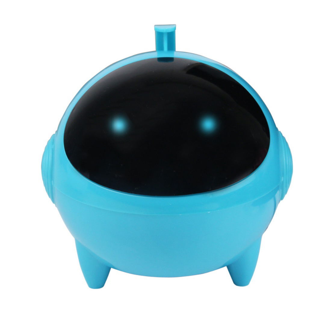 Cartoon USB Speaker Portable 3.5mm Audio Interface 13.2 * 13.2 * 13.5cm for MP3 MP4 blue_Dual speakers