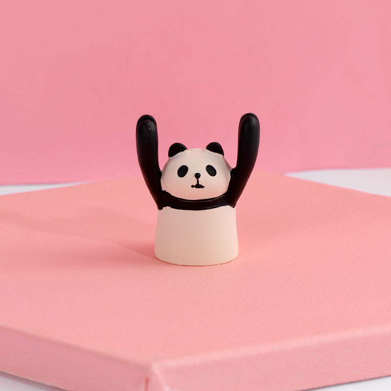 Cartoon Shaped Message Clips Picture Frames Home Business Desktop Card Holder Panda