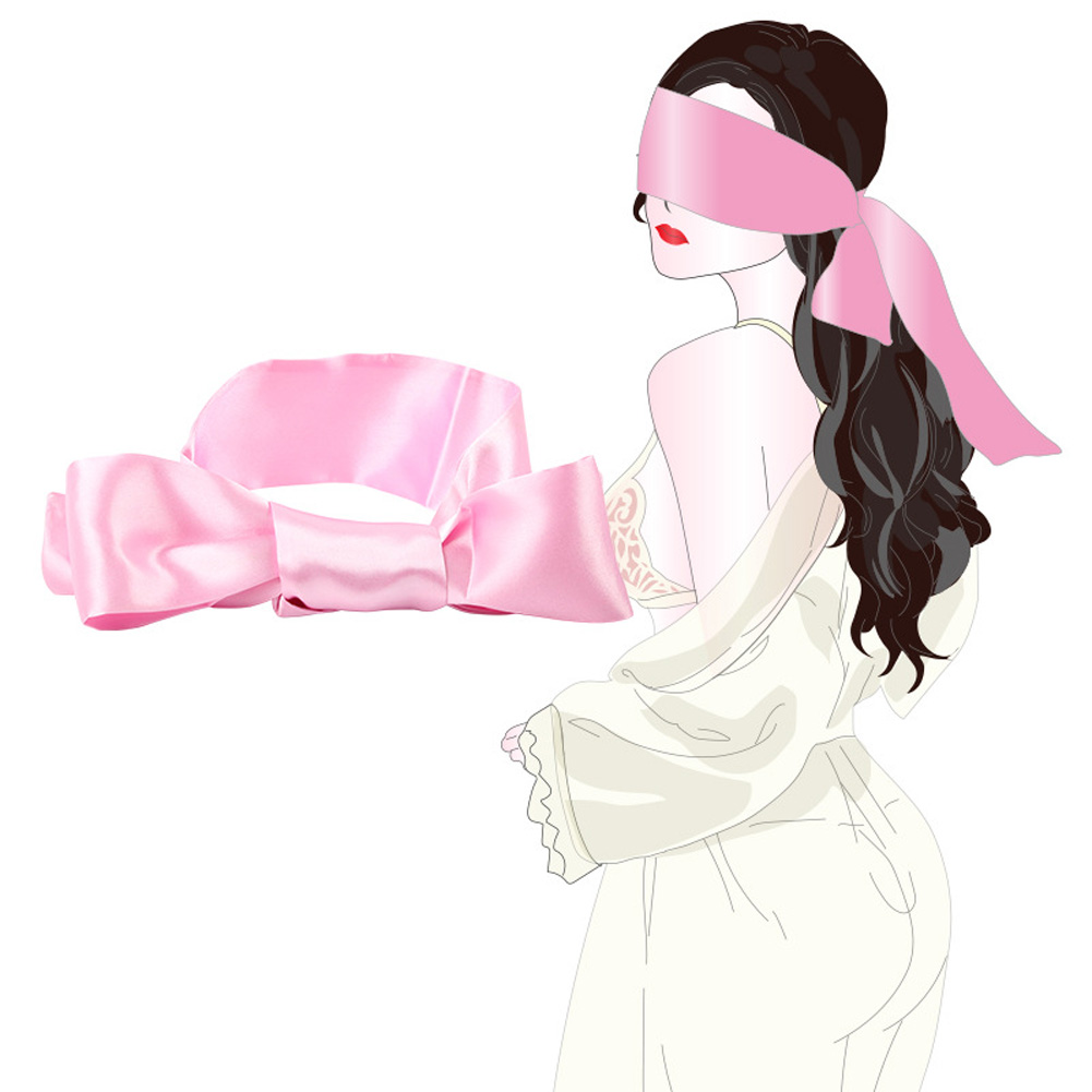 Sexy Eye Mask Blindfold SM Bondage Erotic Sex Toys for Couple Adult Game Role Play Party Night Life Pink