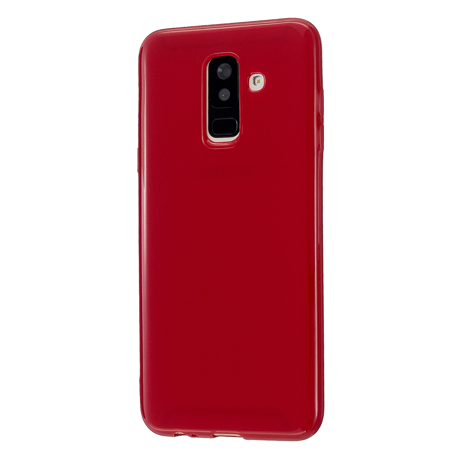 For Samsung A6/A6 Plus 2018 Smartphone Case Soft TPU Precise Cutouts Full Body Protection Mobile Phone Shell Rose red