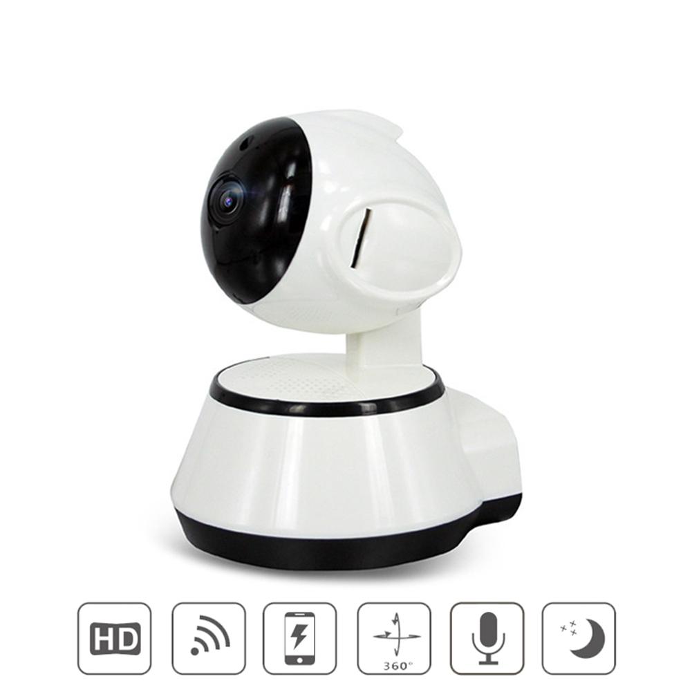 Home Security Wireless Smart WiFi Camera WiFi Audio Record Baby Monitor HD Mini CCTV Camera white_European regulations