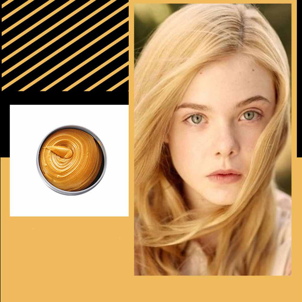 Multicolor Disposable Hair Color Wax Dye One-time Molding Paste Hair Dye Wax Mud Cream gold