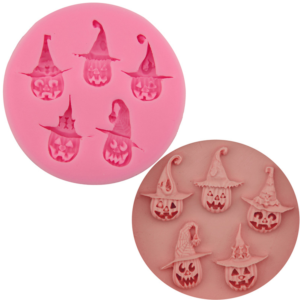 Halloween Pumpkin Cake Mould DIY Silica Gel Baking Tool for Fondant Cake 7.9*7.9*0.9 cm