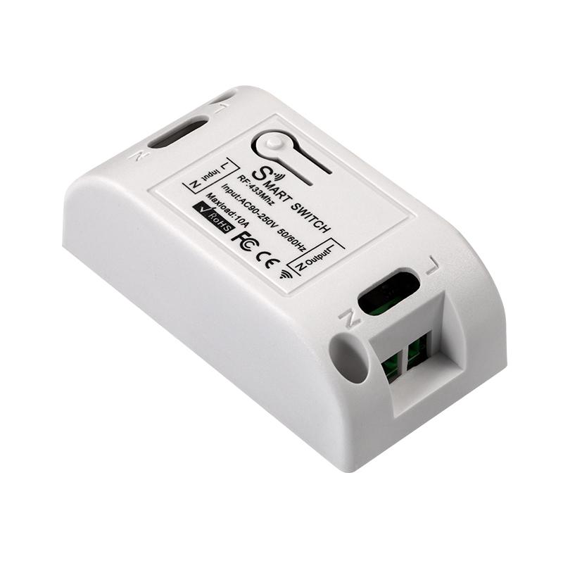 Wireless Wifi Switch Remote Control Smart On-off Controller Universal Intelligent Single Circuit Breaker White