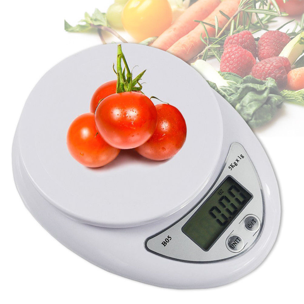 Mini 5KG Kitchen Scale Electronic Food Weighing Scale Digital Measuring Gram Accurate English 5kg/1g