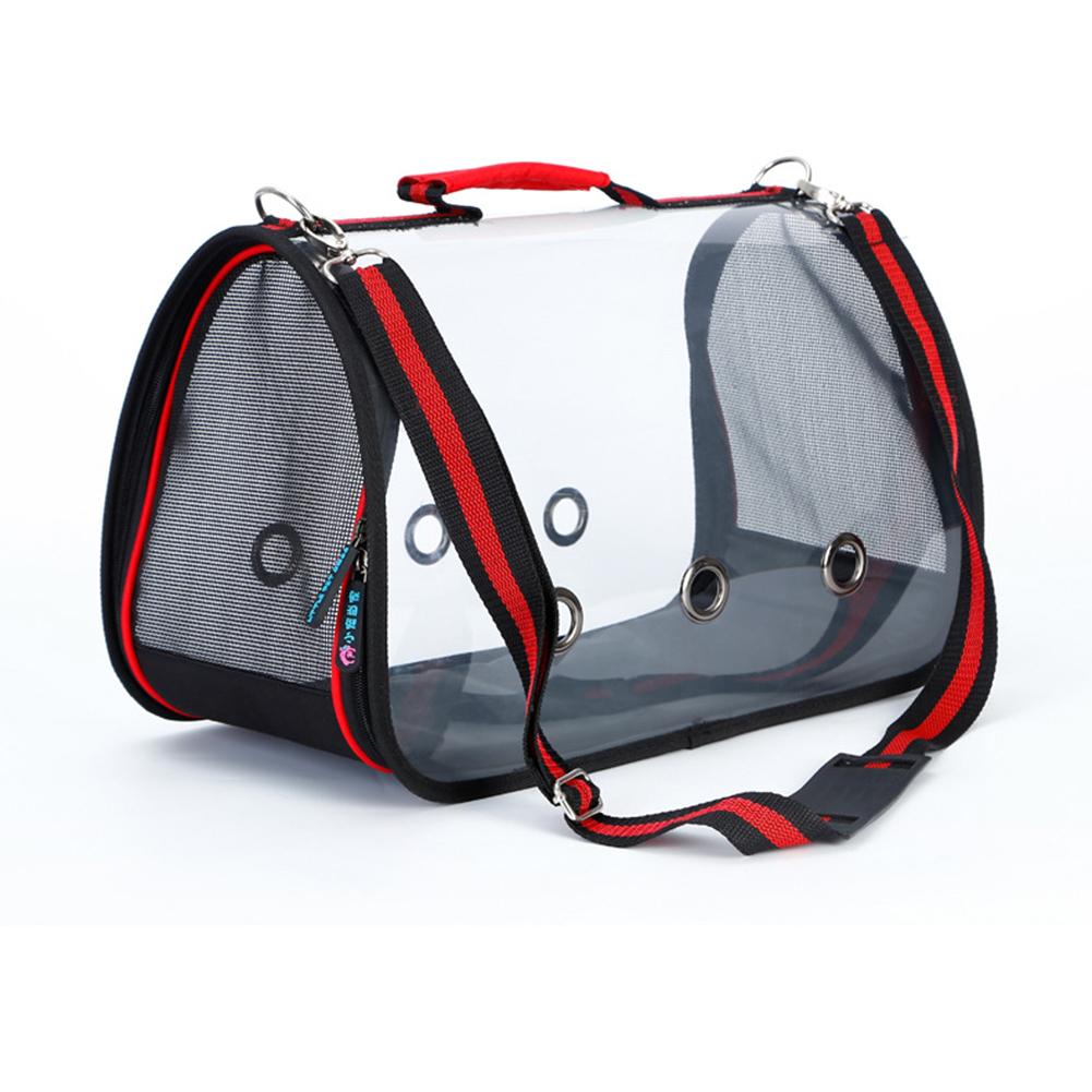 Portable Transparent Pet Handbag Carrier Comfortable Travel Bags Single-should Bags for Cat Dog Puppy  L