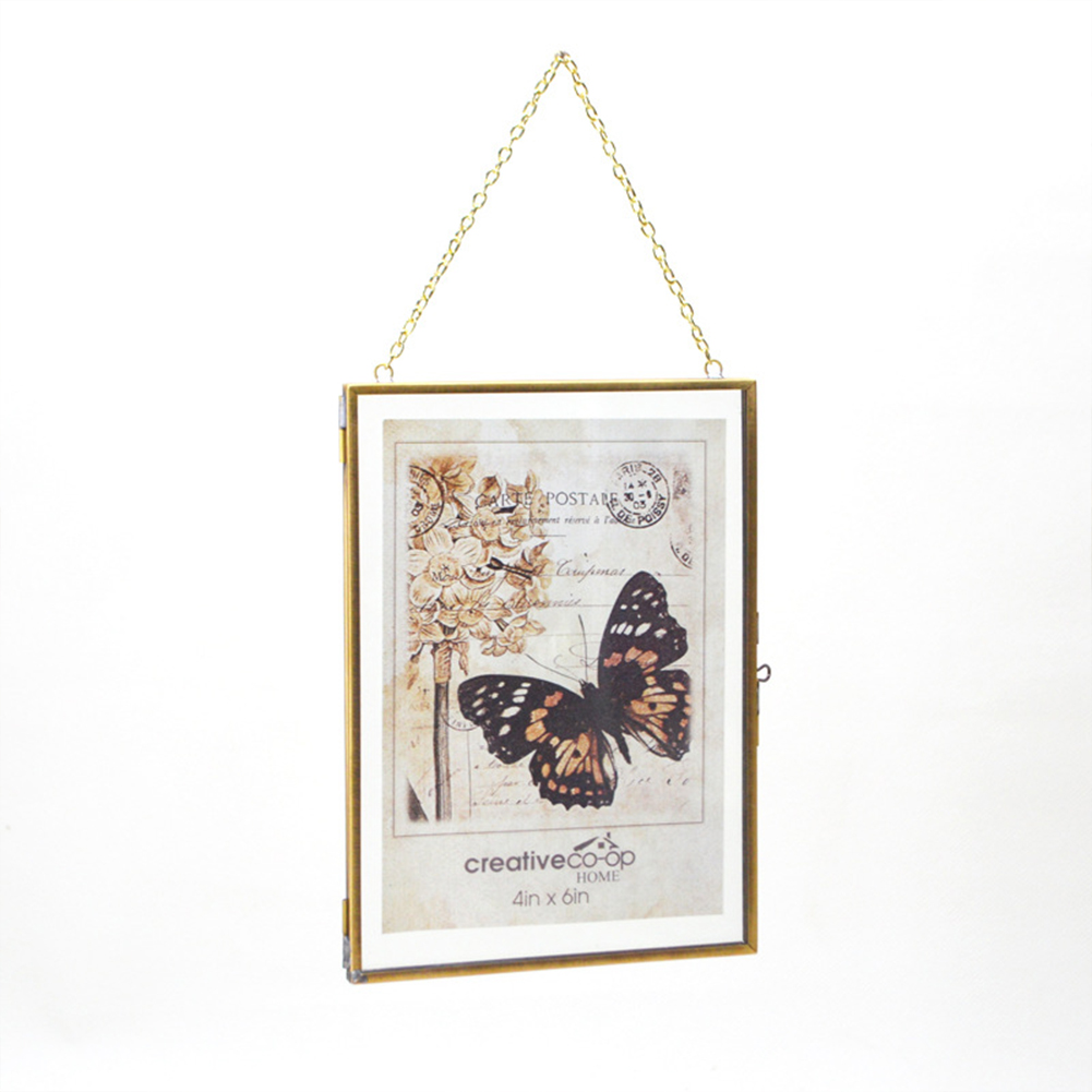 Photo  Frame Picture Frame Portrait Wall Hanging Pendant With Transparent Glass Home Decoration