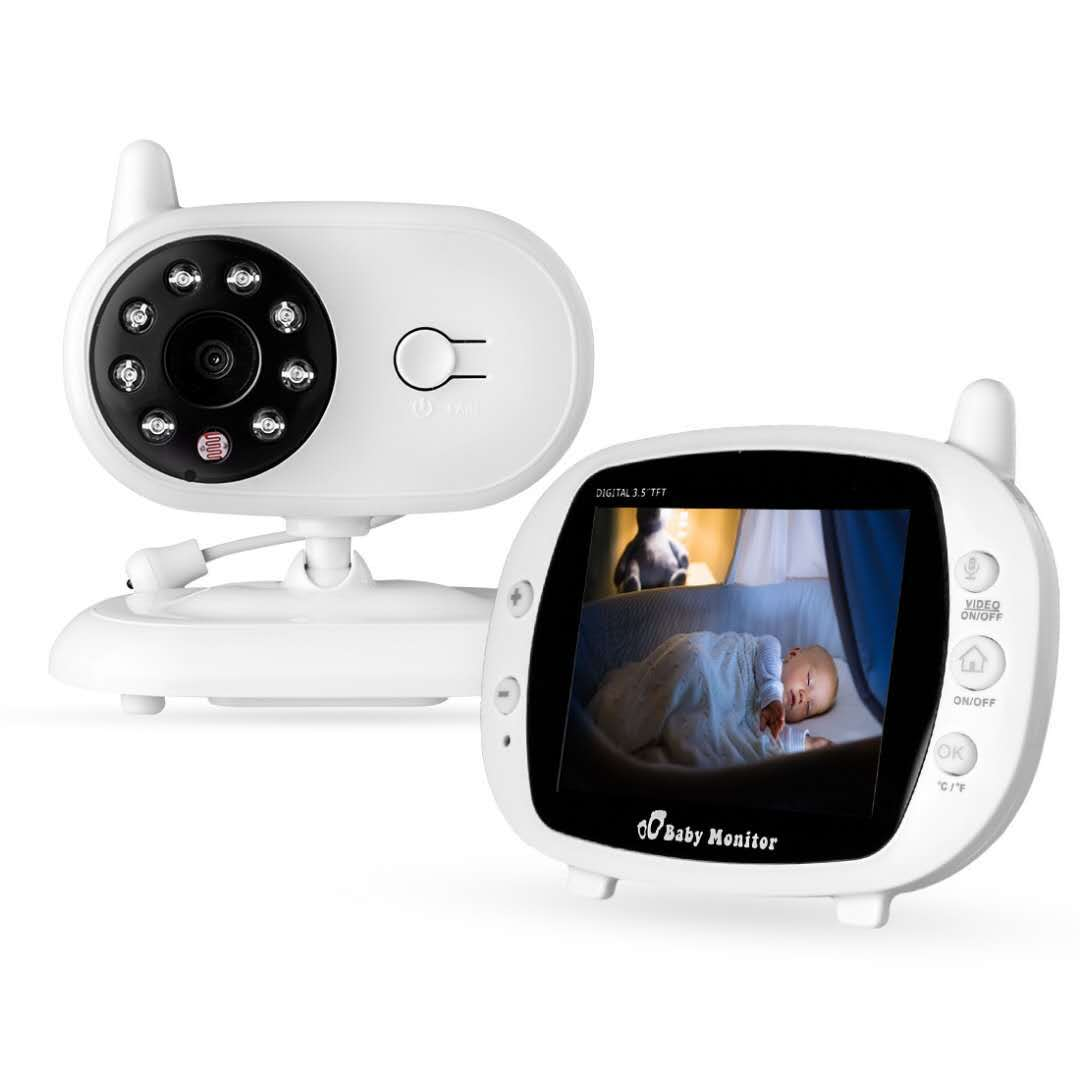 3.5 Inch Newborn Baby Infant Care Device Night Vision Monitor Device Baby Monitor US Plug