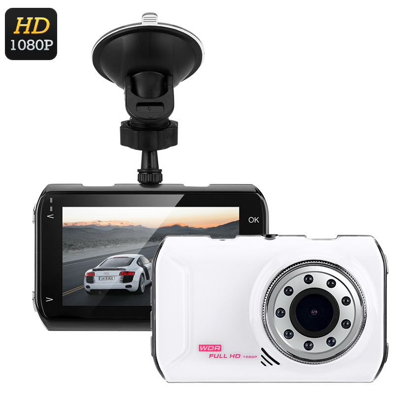 Full-HD Car DVR System (White)