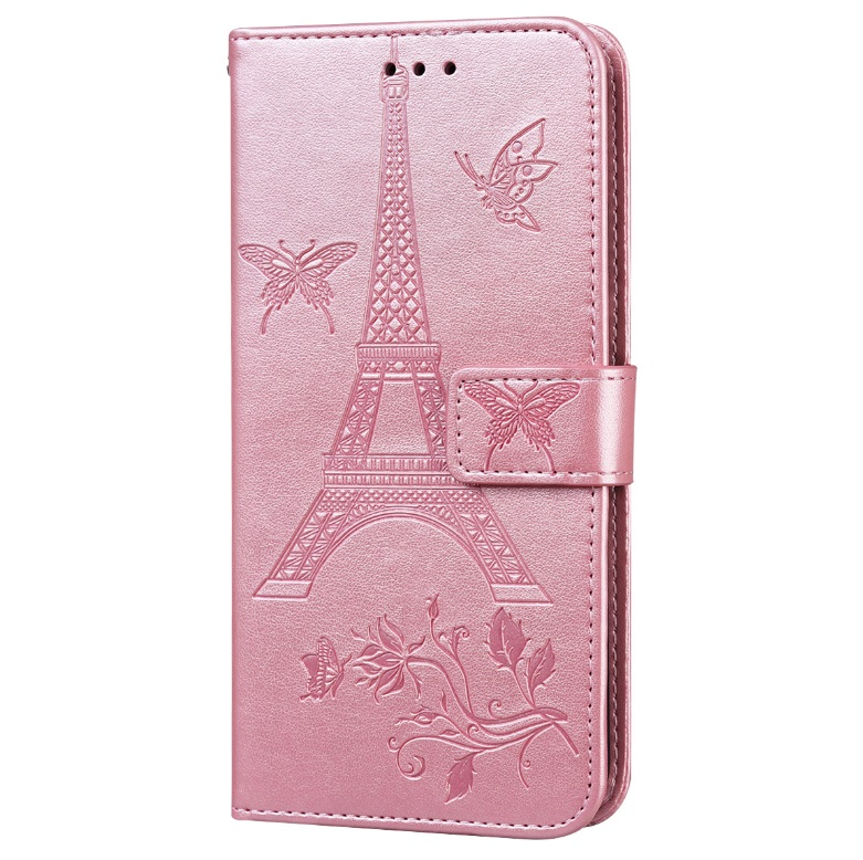 For iPhone12 iPhone12Pro 6.1 Inches Leather Case Flip Cover Card Slots Stand Bag Pink