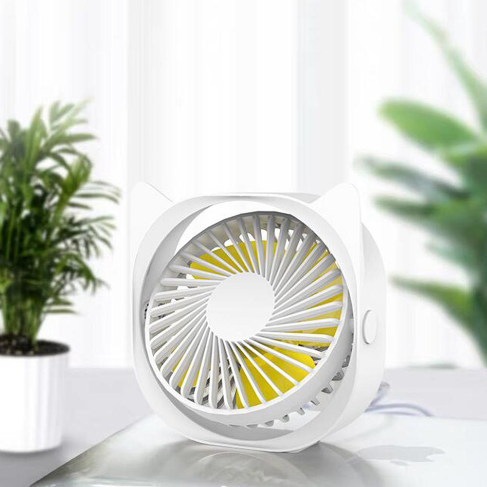 Portable Mini Tabletop Usb Charging Fan for Student Dormitory Sky white