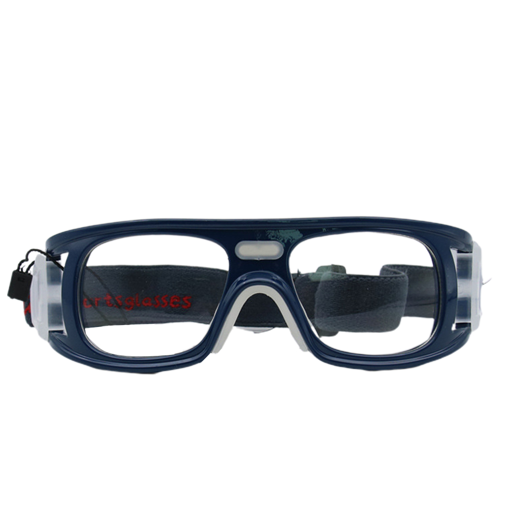 Multi-function Outdoor Sports Safety Glasses Cycling Basketball Football Sports Ski Protective Goggles Elastic Sunglasses Dark blue