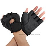 NingB Sport Cycling Fitness GYM Half Finger Weightlifting Gloves Exercise Training , Black , M