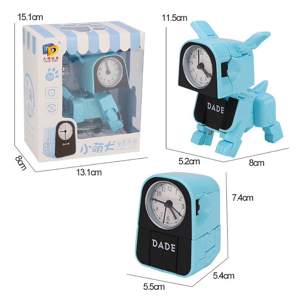 Electronic Alarm Clock Multifunctional Cute Dog Robot Electronic Alarm Clock blue