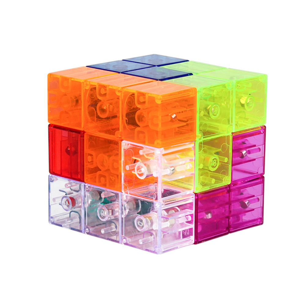YJ Magnetic Speed Cube Magic Cube Puzzles Learning Educational Toy for Kids Transparent