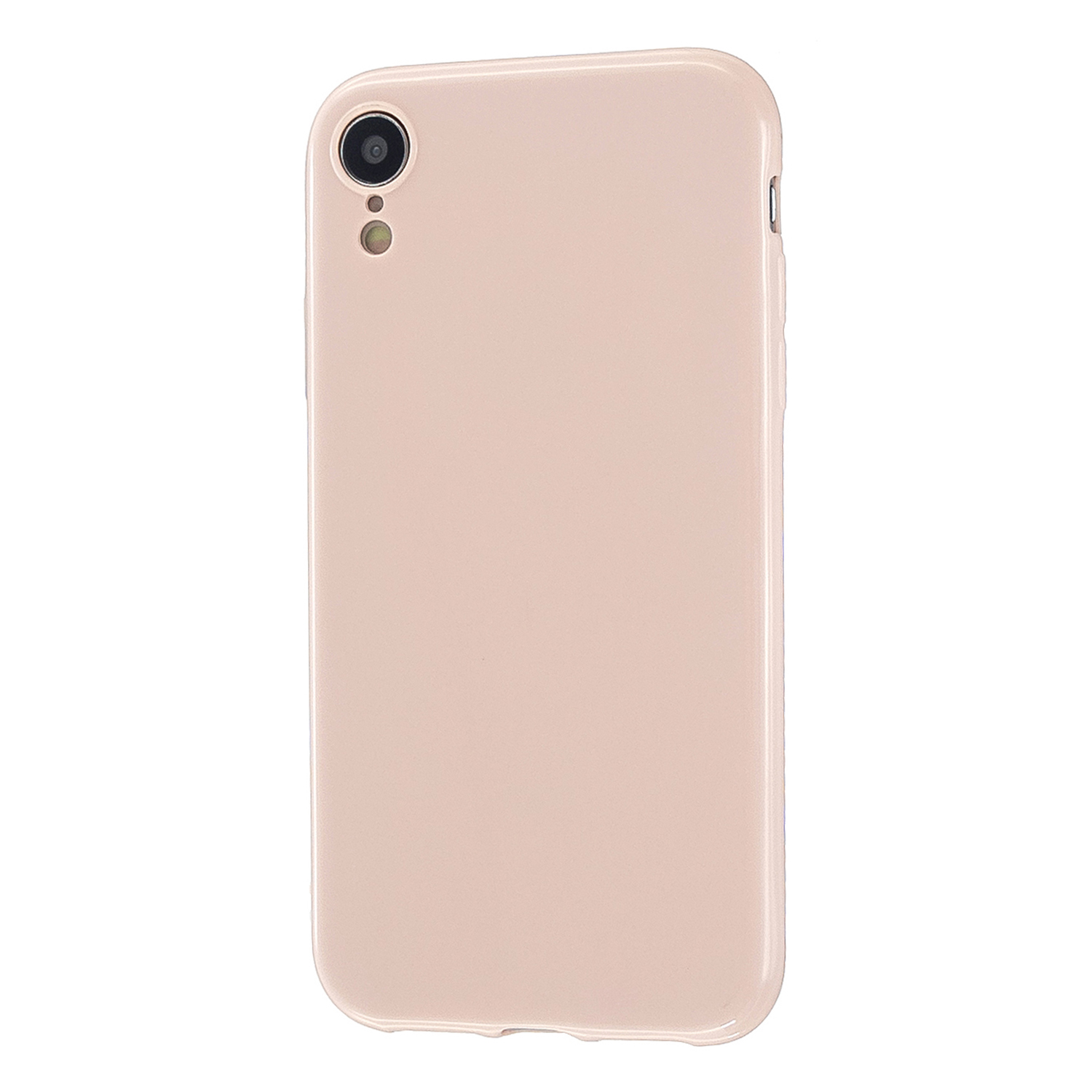 For iPhone X/XS/XS Max/XR  Cellphone Cover Slim Fit Bumper Protective Case Glossy TPU Mobile Phone Shell Sakura pink