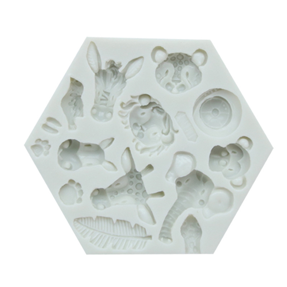 Cute Forest Animal Mould Silicone Molds Woodland Cake Decorative Mold Tools Kitchen Accessories 951 gray