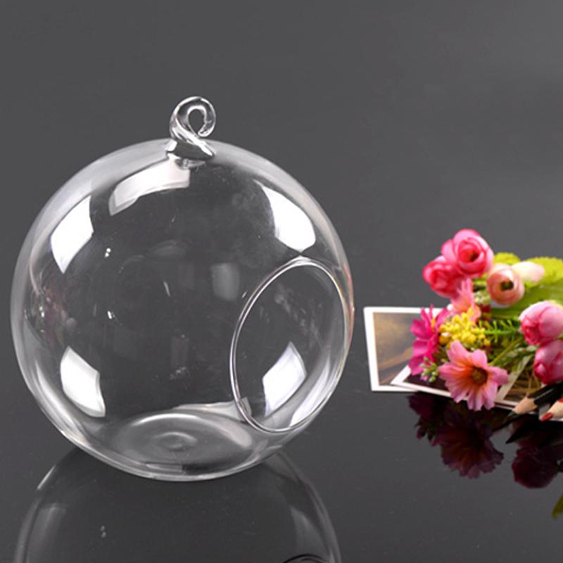 Hanging Tealight Holder Glass Globes Wedding Candle Holders Candlestick Vase Home Hotel Bar Decoration 100mm