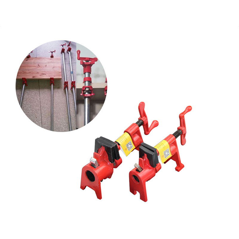 Gluing Pipe Clamp Woodworking Vice Hand Tools Quick Wood Working Clamp for 21mm Galv Pipe Rocker 4 points (1/2) hose clamp
