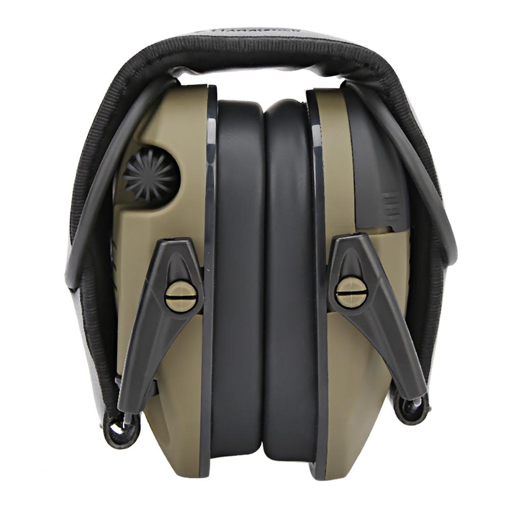 Foldable Anti-Noise Earmuffs Soundproof Ear Defenders for Shooting Ear Defender Electronic Shooting Earmuff Ear Protect green