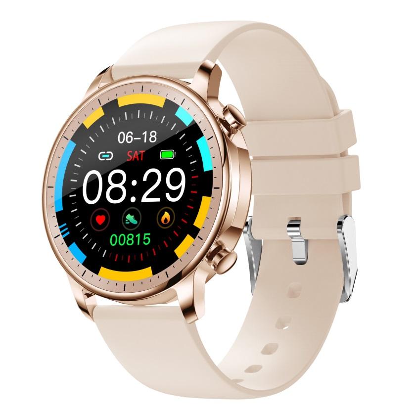 Smart Bracelet IP67 Waterproof Screen heart rate Monitor Pedometer Smart Wristband Sport smart watch Golden