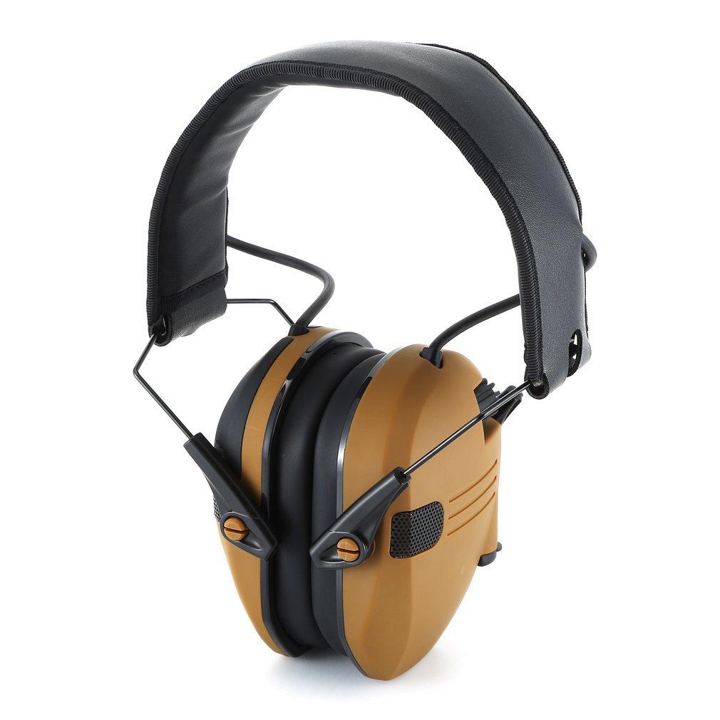 Foldable Anti-Noise Earmuffs Soundproof Ear Defenders for Shooting Ear Defender Electronic Shooting Earmuff Ear Protect yellow