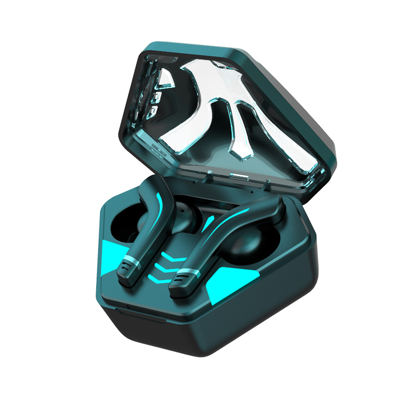 Wireless Gaming Bluetooth Headset Low-latency Cool Appearance Stereo Sound Earphones black