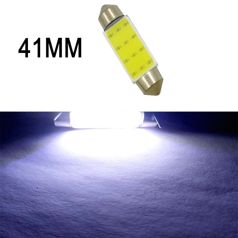Car  Led  Reading  Light Double-pointed Cob Roof Light License Plate Light Carriage Light 31mm/36mm/39mm/41mm White light_41mm