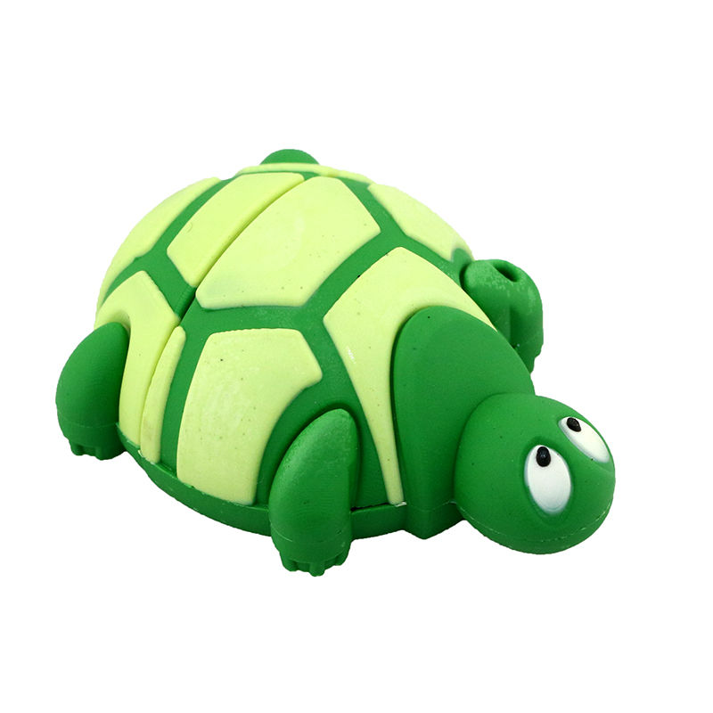 Cute Silicone Land Turtle U Disk Green 32G