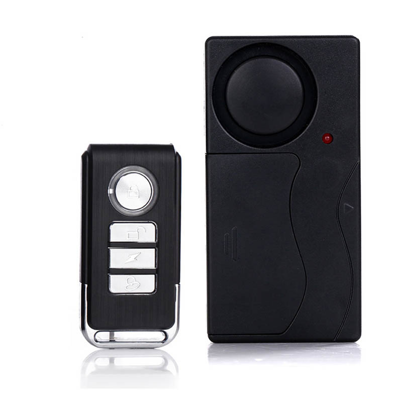Home Security Wireless Remote Control Vibration Motorcycle Bike Door Window Detector Burglar Alarm as picture show