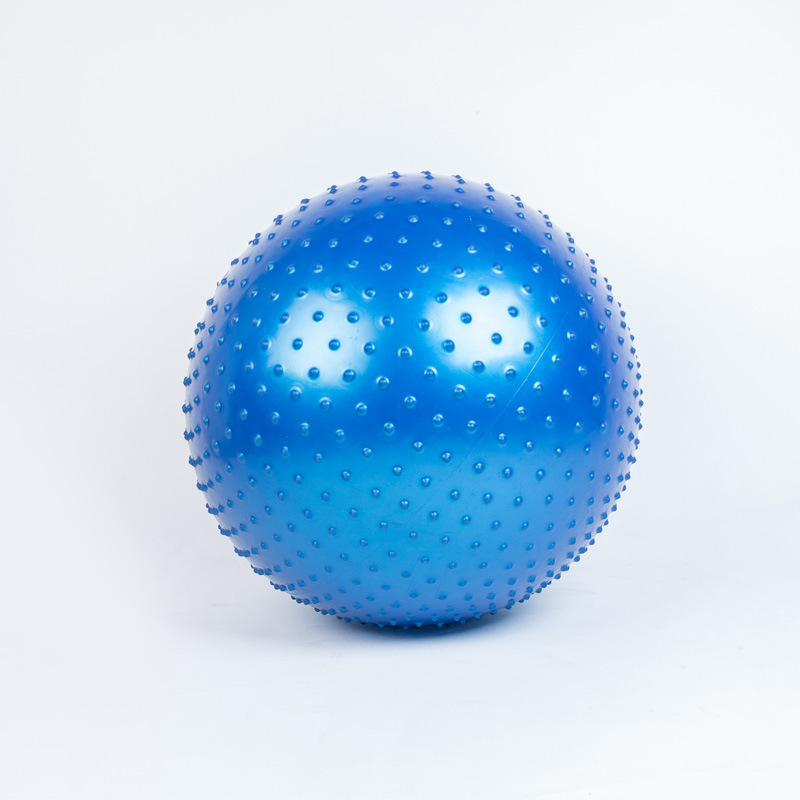 Massage Ball Spiky Yoga Gym Ball Trigger Point Stress Relief 65cm Portable Muscle Relaxation Ball blue