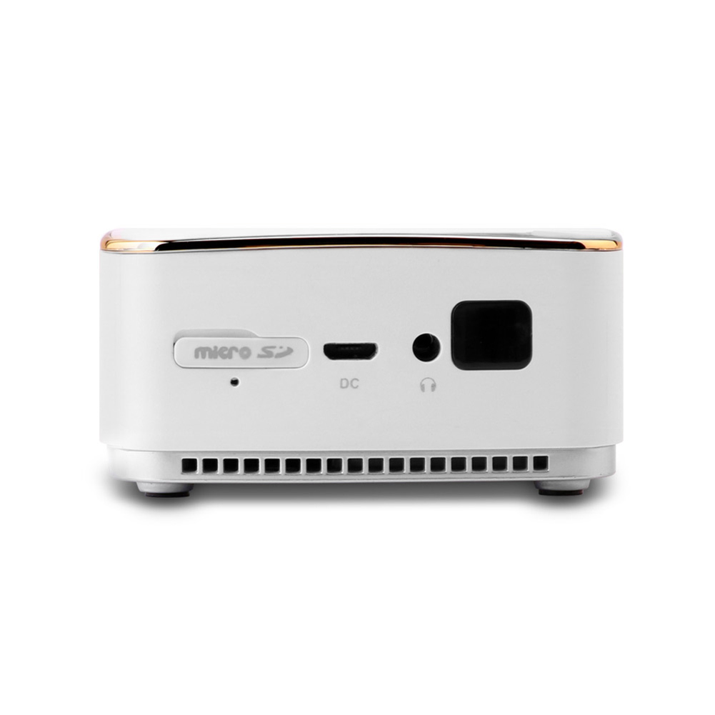 White Mini Portable Multimedia Projector