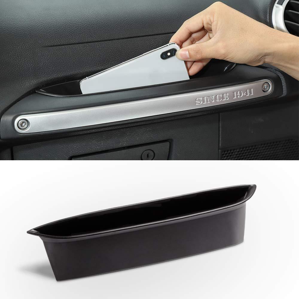 For 2011-2018 Jeep Wrangler JK Passenger Storage Tray Organizer Grab Handle Accessory Box Interior Accessories